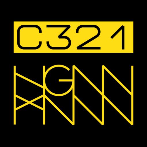 C321: STRIPED back label (black)