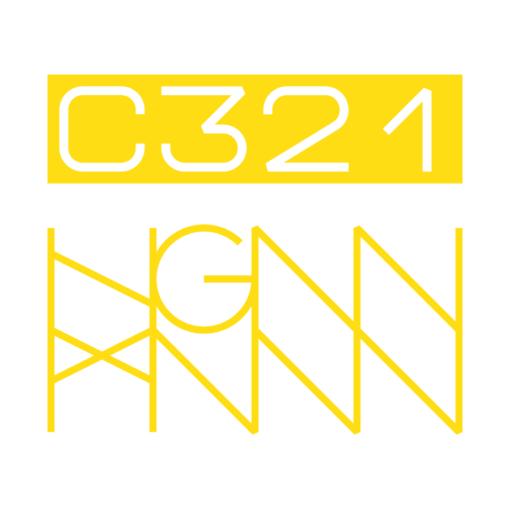 C321: STRIPED back label (white)