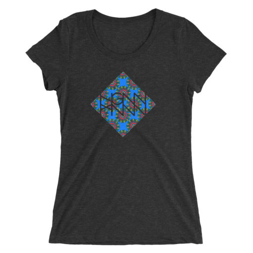 C372: COLONY (LADIES TEE) charcoal black triblend